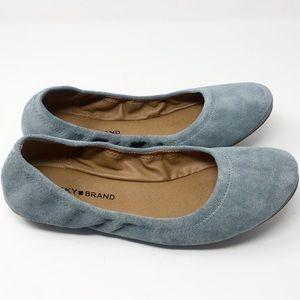 [Lucky Brand] Blue Suede Erin Ballet Flats